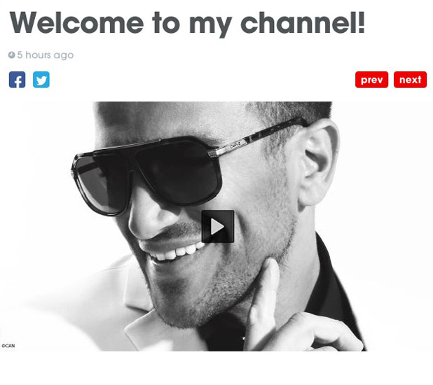 Peter Andre launches his own channel, 15 July 2013