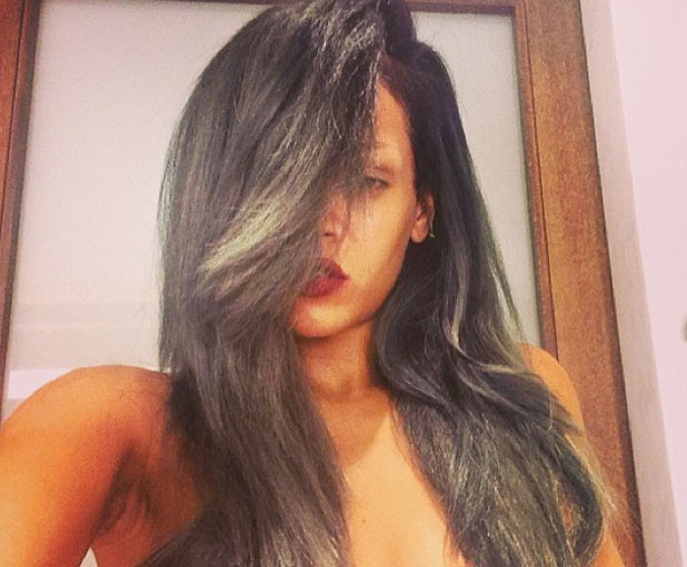 Rihanna has dyed her hair grey, Twitter picture, 18 July 2013