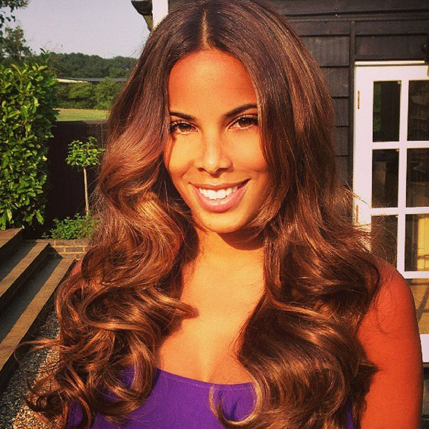Rochelle Humes tweets picture of her Easilocks hair extensions, 17 July 2013