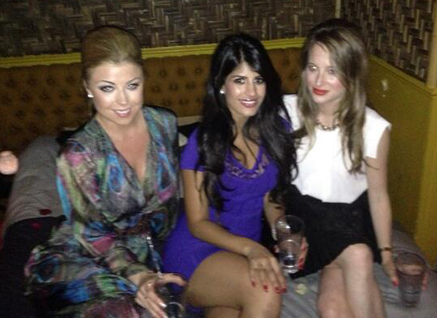 TOWIE's Abi Clarke and Jasmin Walia party with MIC's Rosie Fortescue