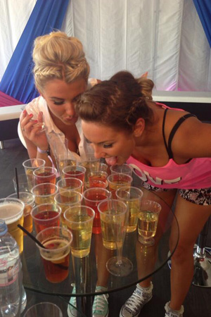TOWIE's Sam Faiers and Billie Faiers at the Wireless festival