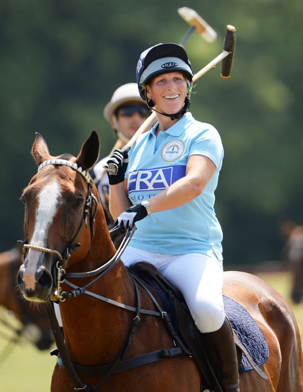Zara Philips, Army v Navy match at Rundle Cup Polo, Tidworth, Wiltshire, Britain - 13 Jul 2013