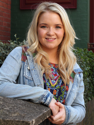 Abi Branning from EastEnders, played by Lorna Fitzgerald