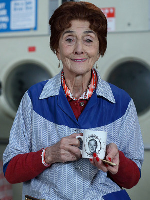 Dot Cotton from EastEnders, played by June Brown