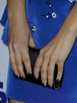 Rachel Bilson at the To Die For premiere - close up of nails. 23 July 2013, LA