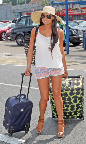TOWIE's Jessica Wright arrives at London City Airport - 21 July 2013