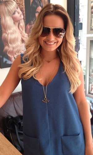 Sam Faiers hair ombre extensions great lengths