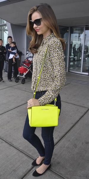 Miranda Kerr arrives at JFK Airport in New York