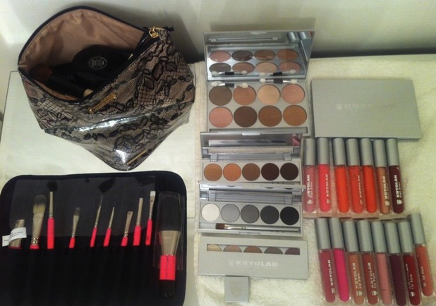 Lucy Mecklenburgh shows off her new Kryolan make-up loot on Twitter, 22 July 2013