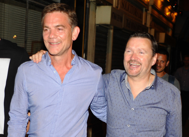 Coronation Street cast members including Ian Puleston Davies attend John Michie farewell drinks at White Lion pub in Manchester, July 27 2013