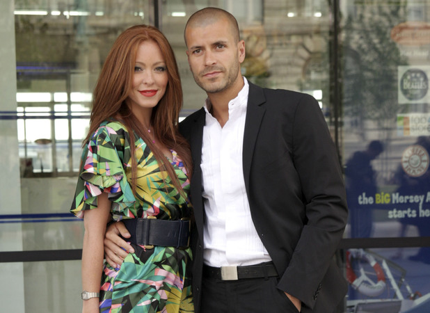 Natasha Hamilton and Riad Erraji during the opening on White Feather: The Spirit of Lennon a Beatles Story in Liverpool, England - 16.06.09