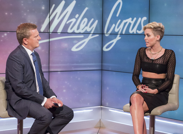 'Daybreak' TV Programme, London, Britain - 26 Jul 2013 Aled Jones and Miley Cyrus