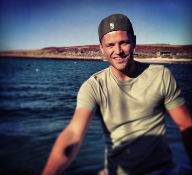 Mark Wright tweets holiday snap of him in Australia - 25 July 2013