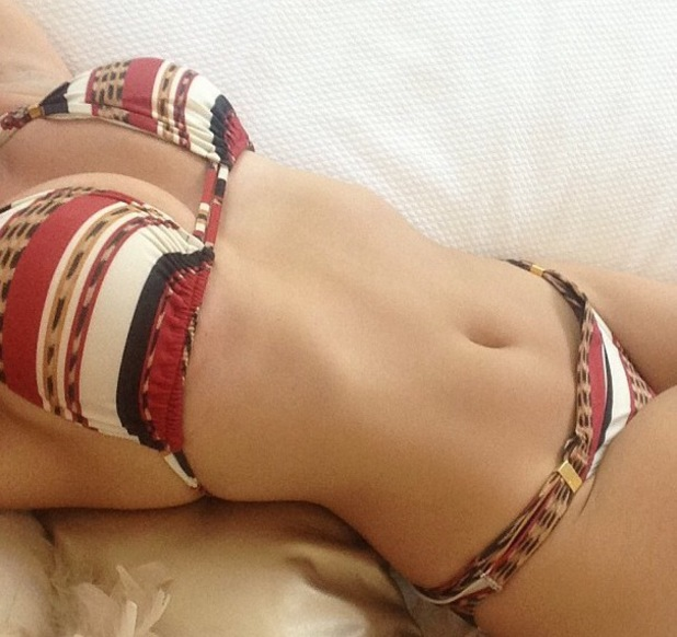 Kelly Brook posts picture of her in a bikini on Instagram - 26 July 2013
