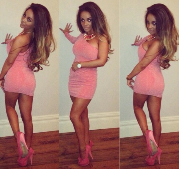 Chelsee Healey wears peach dress on night out - 24 July 2013