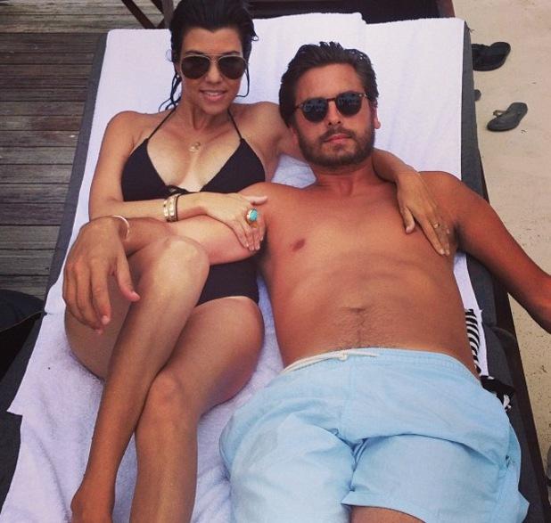 Kourtney Kardashian, Scott Disick, Penelope in Miami, Florida - 20 Jul 2013