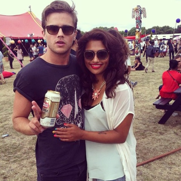 Vanessa White from The Saturdays at Lovebox festival on 20 July