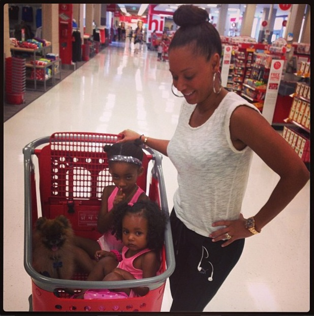 Mel B aka Melanie Brown posts picture with children Angel and Madison - July 2013