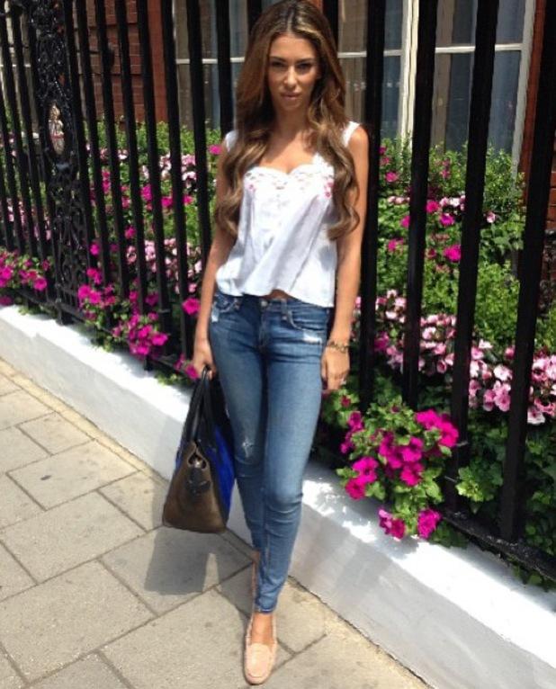 Georgia Salpa wears summery clothes in London - 22 Ju;y 2013