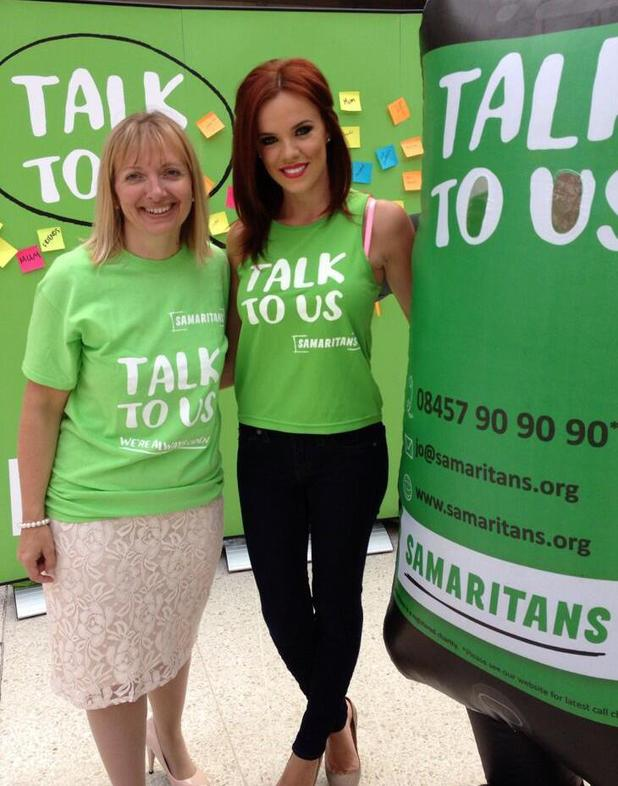 Maria Fowler attends a photocall at Waterloo Station to raise awareness for the Samaritans - 24.7.13