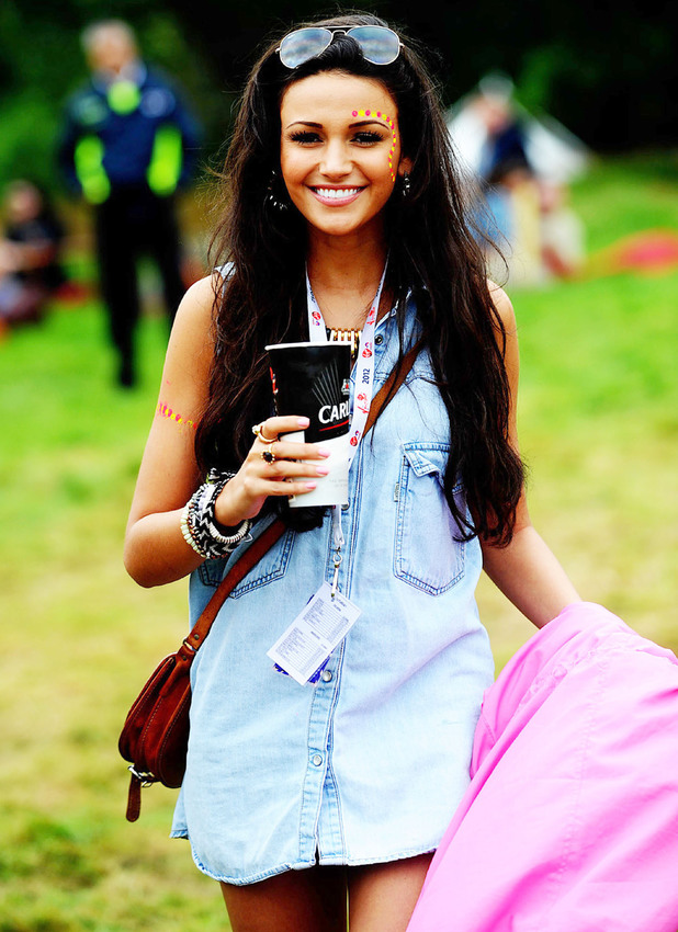 Michelle Keegan V Festival 2012 held at Weston Park - Performances - Day One Staffordshire, England - 18.08.12