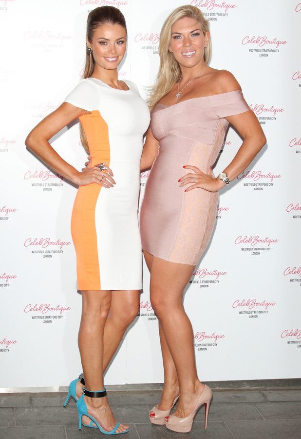 Chloe Sims, Frankie Essex - CelebBoutique store launch party held at Westfield Stratford - Arrival