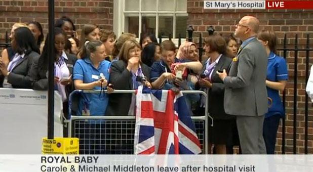 Prince Charles and Camilla at St. Mary's Hospital, 23 July 2013