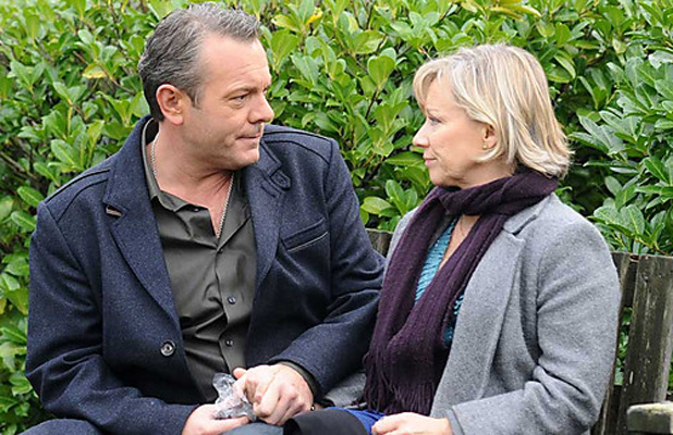 EastEnders - David Wicks, played by Michael French with Carol Jackson, played by Lindsey Coulson