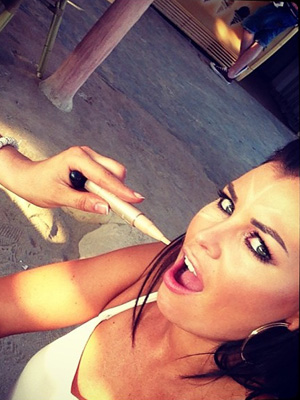 TOWIE's Jessica Wright takes a break from filming new music video, Come With Me