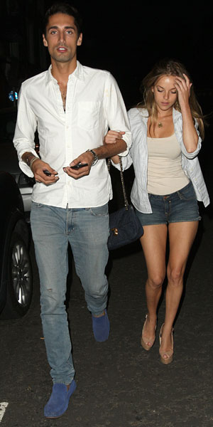 Made in Chelsea cast members eating at E&O in Notting Hill - Hugo Taylor and Natalie Joel, 24 July 2013