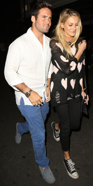 Made in Chelsea cast members eating at E&O in Notting Hill - Spencer Matthews and Stephanie Pratt, 24 July 2013
