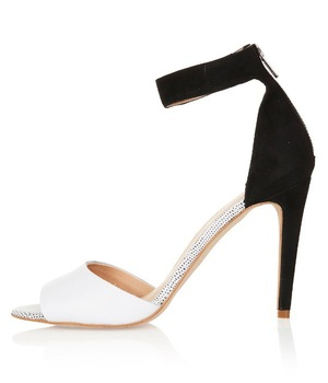Topshop two-tone monochrome strappy barely-there sandals