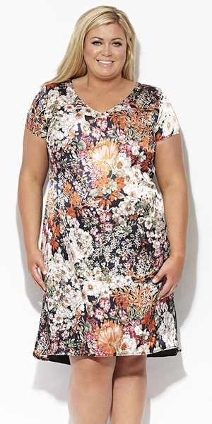 Gemma Collins Collection oriental floral dress