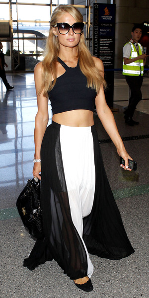 Paris Hilton and River Viiperi at LAX airport, Los Angeles, America - 29 Jul 2013