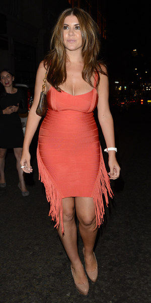 Imogen Thomas leaves Mayfair Bar, London - 02/08/13