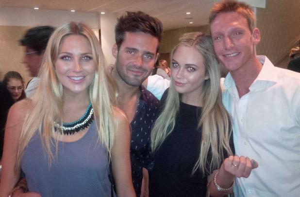Made In Chelsea's Spencer Matthews takes girlfriend Stephanie Pratt on double date to see The Book Of Mormon - 1 August 2013
