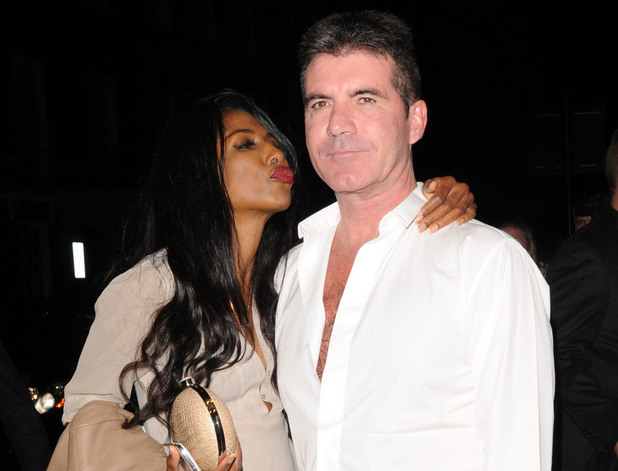 Simon Cowell and Sinitta pictured at Britain's Got Talent wrap party held at 45 Park Lane - Departures. 13 June 2013