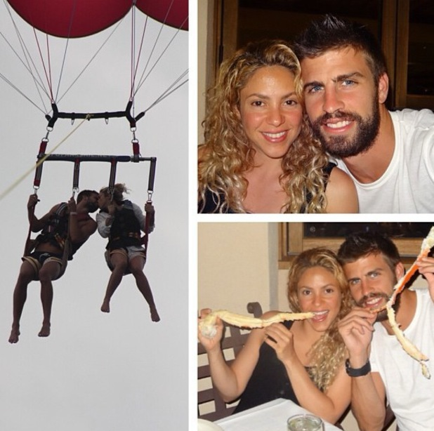Shakira and boyfriend Gerard Piqué on holiday - July 2013