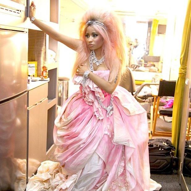 Nicki Minaj fragrance advert shoot for new Minajesty perfume