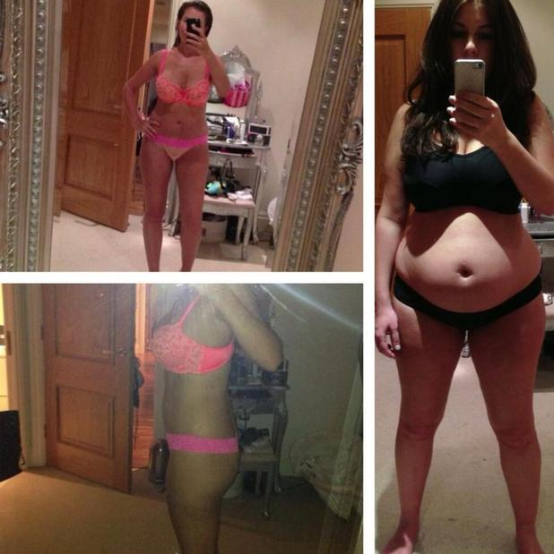 Imogen Thomas shows how she's gone from mummy tummy to flat tummy - 31 July 2013