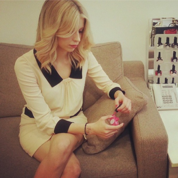 Peaches Geldof painting nails with Ciate polish, Instagram, 26 July