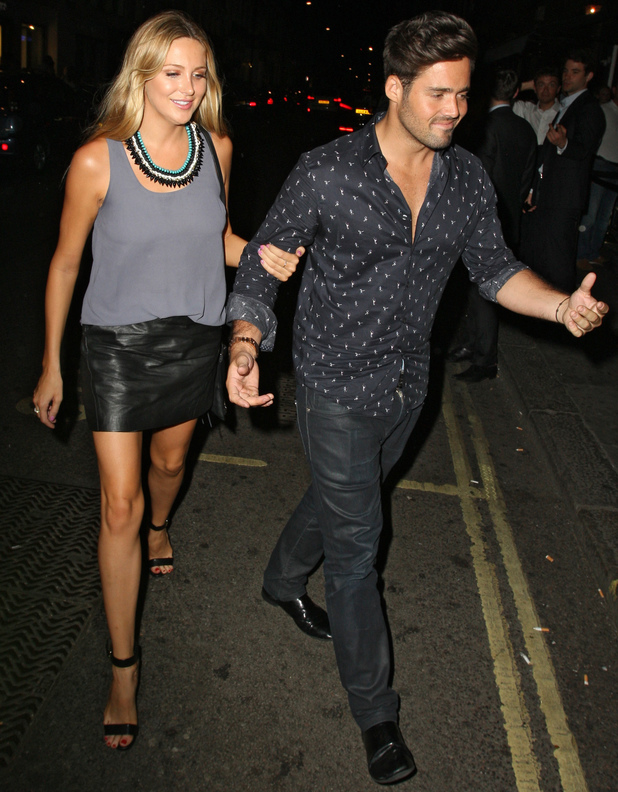 Made In Chelsea's Spencer Matthews takes girlfriend Stephanie Pratt on double date to see The Book Of Mormon, then to Mahiki - 1 August 2013
