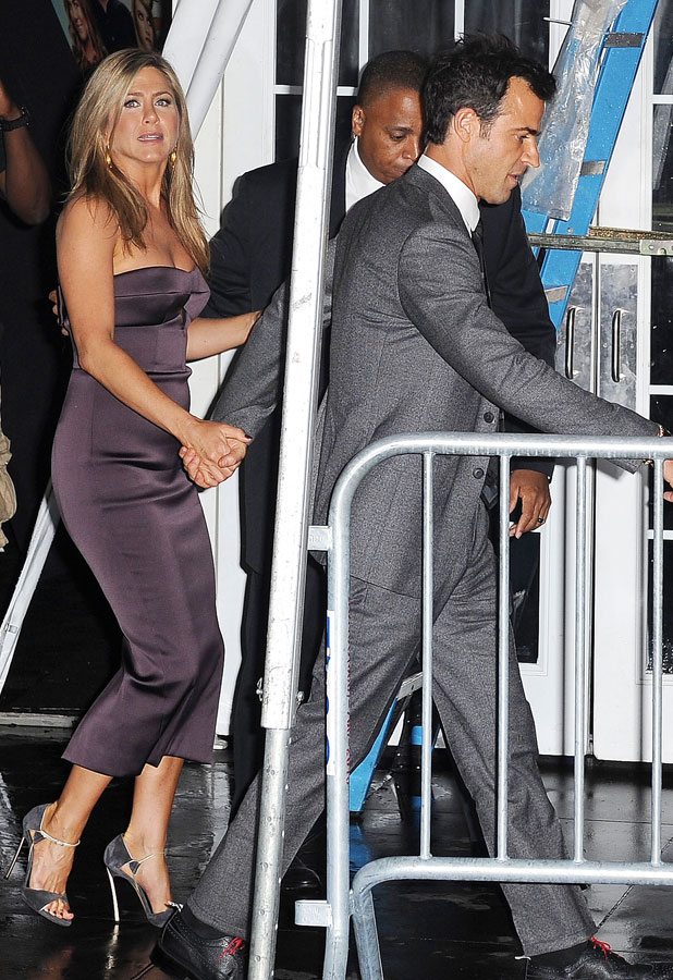 'We're the Millers' film premiere, New York, America - 01 Aug 2013 Jennifer Aniston and Fiance Justin Theroux
