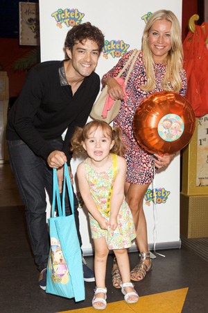 Tickey Toc toy launch at Hamleys, London, Britain - 21 Jul 2013 Lee Mead, daughter Betsy Mead and Denise Van Outen 21 Jul 2013