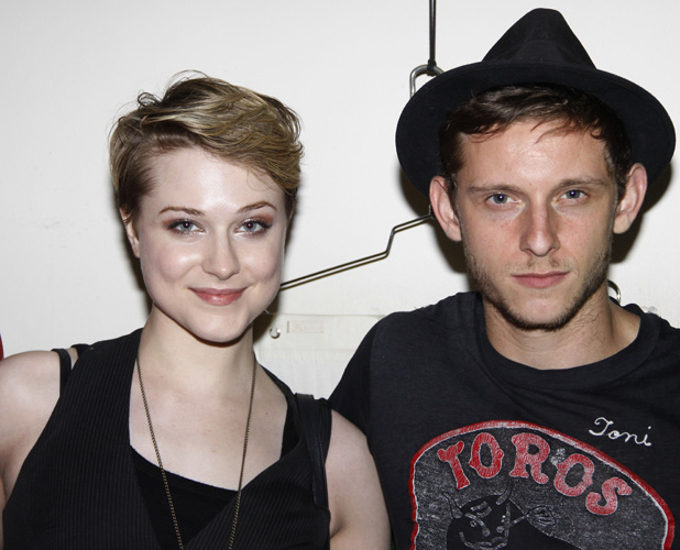 Evan Rachel Wood and Jamie Bell Backstage at the Broadway musical production of 'Spider-Man Turn Off The Dark' at the Foxwoods Theatre PersonInImage: Credit :Joseph Marzull Special Instructions : Date Created :07/02/2011 Location :New York City, United State