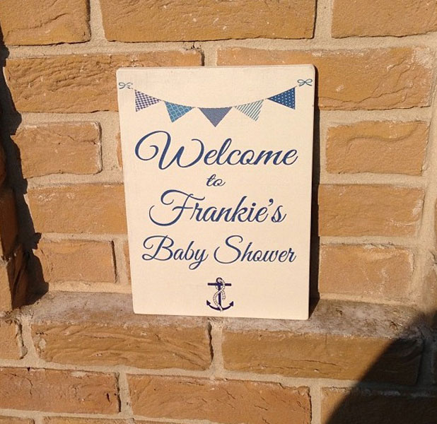 Frankie Sandford's baby shower, July 2013