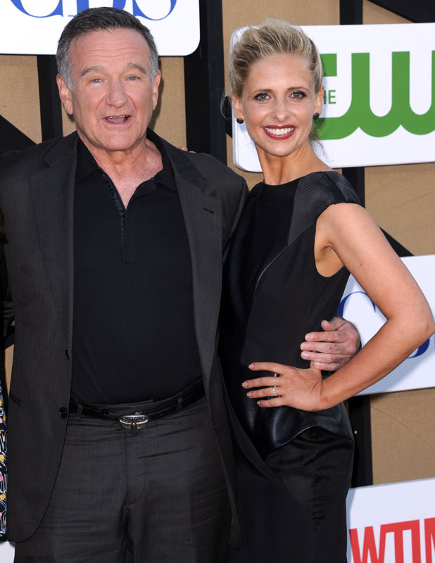 CW, CBS and Showtime 2013 Summer TCA Party - Arrivals - Sarah Michelle Gellar and Robin William, 29 July 2013