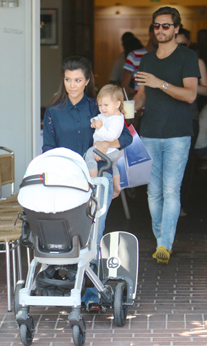 Scott Disick and Kourtney Kardashian seen at Fred Segals Caption:	Scott Disick is seen joining Kourtney Kardashian and their daughter Penelope Disick at Fred Segal. Later the couple left in separate cars. Scott Disick, Kourtney Kardashian, Penelope Disick Credit :	WENN.com