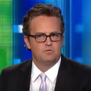 Matthew Perry talks to Lisa Kudrow on Piers Morgan Live (26 July)