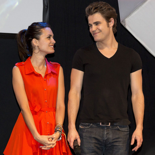 BloodyCon 2013 held at the Swissotel Neuss - Day 3 Torrey DeVitto, Paul Wesley Credit :	Iris Edinger/Future Image/WENN.com Date Created :	06/09/2013 Location :	Neuss, Germany